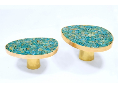 KAM TIN - Coffee table in Turquoise - 2015