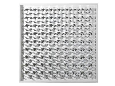 MARC CAVELL, Tableau cinétique, bois laqué blanc et lames d'acier en forme de losange, 1973