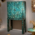 KAM TIN, Cabinet/Bar Turquoise, 2019
