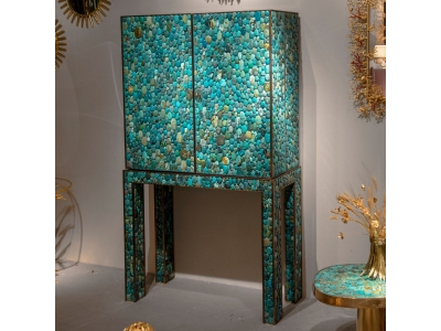 KAM TIN - Cabinet/Bar Turquoise - 2019
