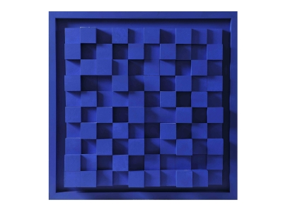 "Marc Cavell - Tableau ""Building bleu"" - 1976"