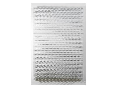 MARC CAVELL, Tableau cinétique blanc, panneau ellipse, 1969