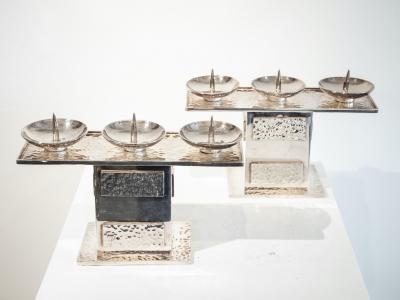 Jean Després, Pair of candlesticks, ca 1950