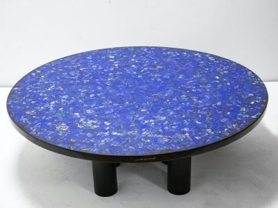 Etienne Allemeersch - Lapis Lazuli coffee table - circa 1970