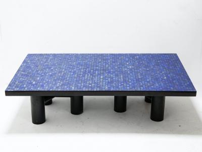 """Etienne Allemeersch - """"Lapis Lazuli"""" coffee table - circa 1970"""