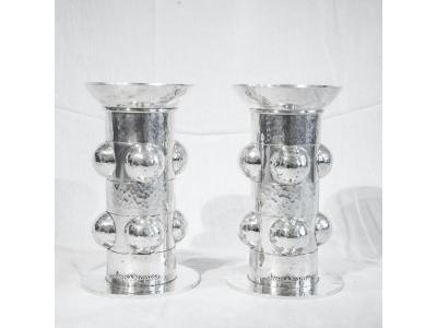 Jean Després - Pair of candlesticks - 1950