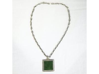 Jean Després - Silver and jade necklace - circa 1950