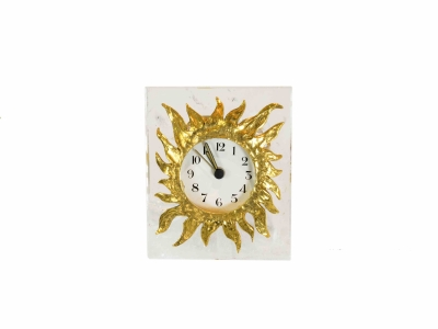 ROBERT GOOSSENS, Clock in rock crystal and gilt bronze, 1993