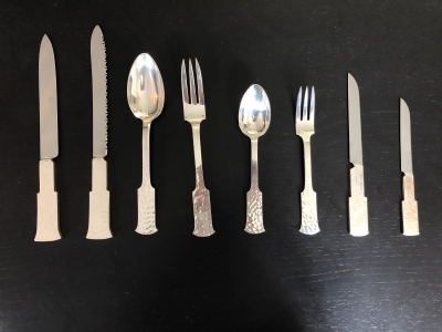 Jean Després - Silver cutlery set - circa 1950