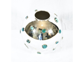 KAM TIN - Vase en turquoises - 2019