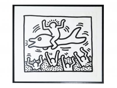 Keith Haring - Encre sur papier - 1987