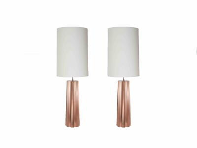 KAM TIN, Pair of copper lamps, 2015