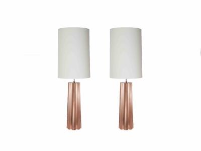 KAM TIN - Paire de lampes en cuivre - 2015