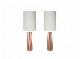 KAM TIN, Paire de lampes en cuivre, 2015