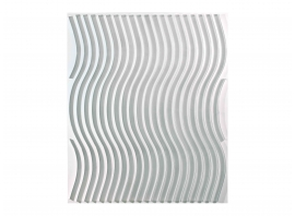 MARC CAVELL, Kinetic painting, white sinusoid, 1973