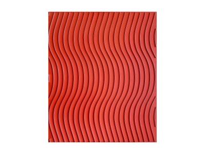 MARC CAVELL, Tableau cinétique Sinusoïde rouge, 1974