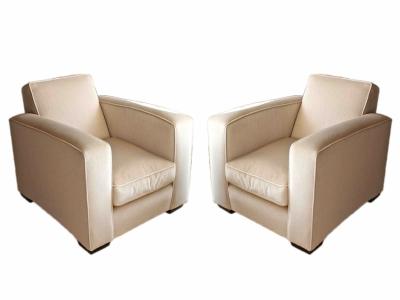 JACQUES ADNET, Paire de fauteuils, 1940
