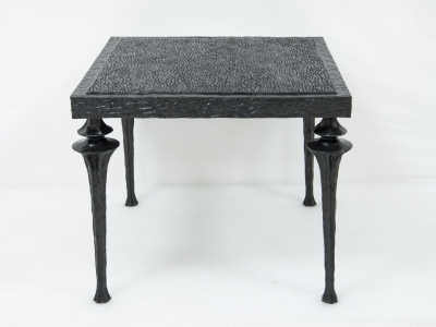 MARC BANKOWSKY, Pair of bronze patinated coffee tables, 2015