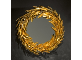 ROBERT GOOSSENS, Witch mirror with a crown of sheaf o wheat, 70 cm