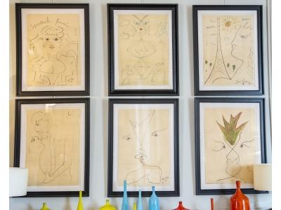 Jean Cocteau - Ensemble de dessins - 1961