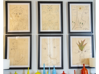Jean Cocteau - Set of drawings - 1961