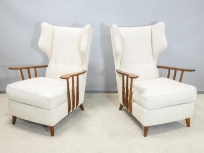 Ico Parisi - Paire de fauteuils - circa 1950