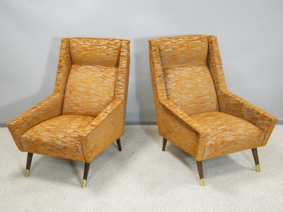 Italian work - Pair of armchairs - circa 1950