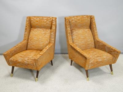 Travail italien - Paire de fauteuils - circa 1950