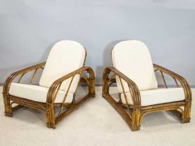 Adrien Audoux and Frida Minet - Pair of armchairs - circa 1950