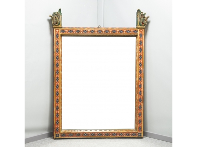 Travail français - Miroir troubadour - circa 1850