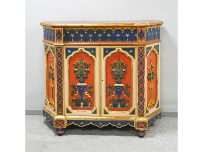 French work - Troubadour cabinet - circa 1850