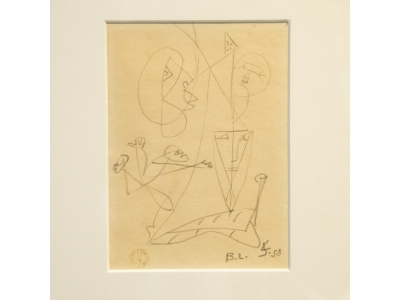 Léopold Survage - Drawing - circa 1950