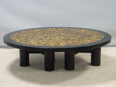 Etienne Allemeersch - Tiger-eye coffee table - circa 1970