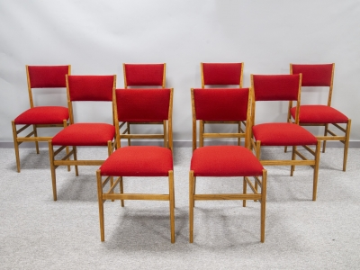 "Gio Ponti - Ensemble de 8 chaises ""Superleggera"" - circa 1950"
