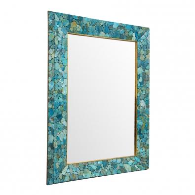 KAM TIN, Miroir en Turquoise