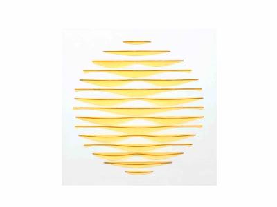 Marc Cavell, Tableau cinétique jaune, 1972