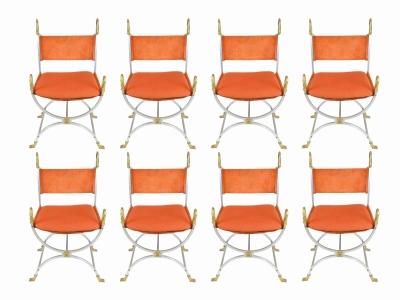 MAISON JANSEN, 8 armchairs, 1970