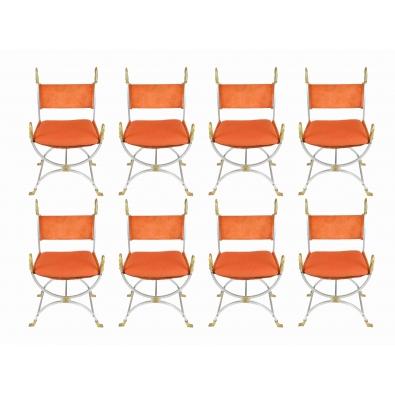 MAISON JANSEN, 8 fauteuils, 1970