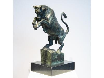 "Michelangelo Monti - ""Toro Rampante"" - circa 1930"
