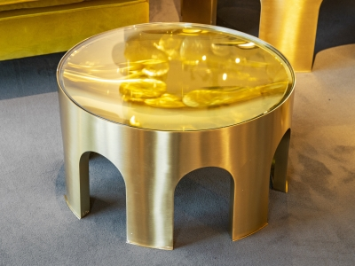 Foddis & Baisi - Medium golden Colosseum table - 2021