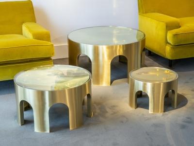 Foddis & Baisi - Set of golden Colosseum tables - 2021