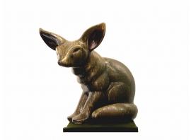 Elfriede Balzar-Kopp, Sculpture de fennec en grès émaillé, 1955
