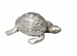 "Robert Goossens, ""Turtle-box"" in silvered bronze, Circa 1970"