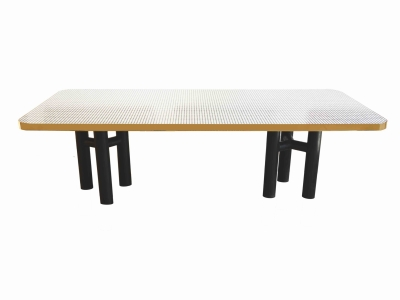 Tables maison rapin for Salle a manger annee 70