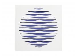 MARC CAVELL, Tableau cinétique bleu, 1974