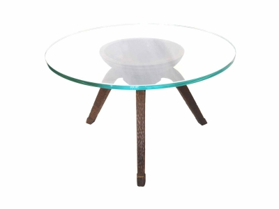 FONTANA ARTE, Africanist pedestal table, Italy, Circa 1930