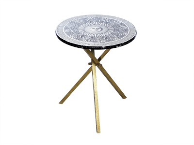 PIERO FORNASETTI, Pedestal table with a sun pattern