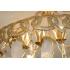 """Robert Goossens, Lustre """"Coeurs"""" en bronze doré et cristal de roche réalisé pour Coco Chanel"""