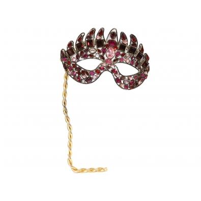 Robert Goossens, Masque en pierres fines réalisé pour Christian Dior, Années 70