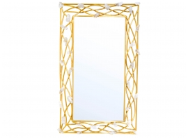 Robert Goossens, Mirror in gilded brass, rock crystal, 1973